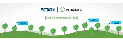 Motovan Partners With One Tree Planted to Improve Sustainability Initiatives