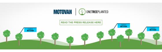 Motovan s'associe avec One Tree Planted pour améliorer les initiatives de développement durable
