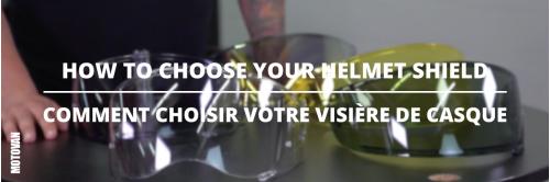 Comment choisir votre visière de casque de moto