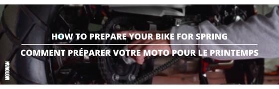 Les conseils du mardi - Préparez votre moto pour le printemps