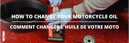 Les conseils du mardi - Comment changer l'huile de votre moto