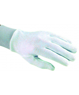 Thermo-comfort gloves liners with Lurex