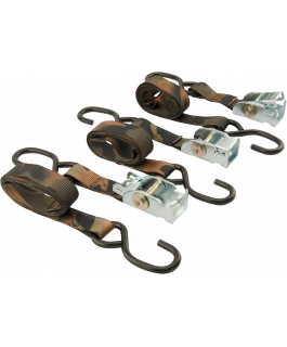 Motorcycle/ATV Camo strap with built-in soft ties