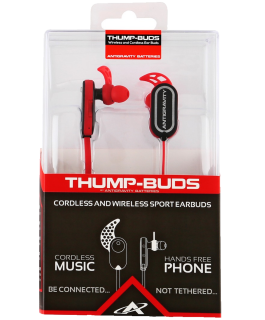 Thump-Buds® cordless Bluetooth earbuds