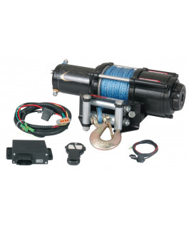 Quadrax® 3600lbs ATV winch with wireless remote & synthetic rope
