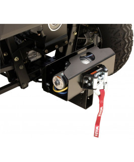Removable and adjustable universal winch support - adapts to 2-in hitch receiver