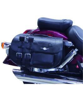 Nevada Classic Leather Tek saddlebags