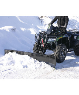 Quad-Action 72-in heavy-duty plow, with adjustable angle wings