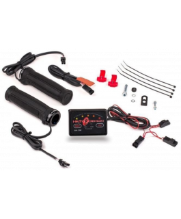 Dual zone ATV clamp-on heated grip kit