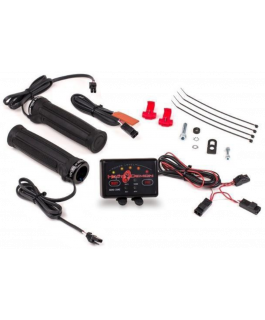 Quad zone ATV clamp-on heated grip kit