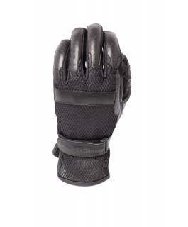 Men's Breather genuine leather and polyester 3D mesh gloves