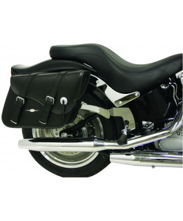 Classic Indiana Leather Tek saddlebags