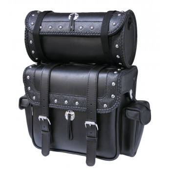 Studded Tucson backrest bags with superimposed round bag