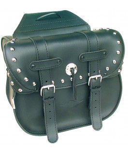 Deluxe chrome studded Dallas saddlebags
