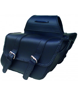 Deluxe braided Houston saddlebags