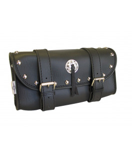 Tool pouch studded chrome