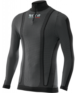 Long sleeve turtleneck jersey with zipper carbon Underwear®