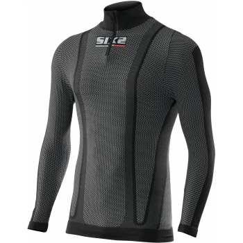 TS13W Long sleeve turtleneck jersey with zipper thermo carbon Underwear®
