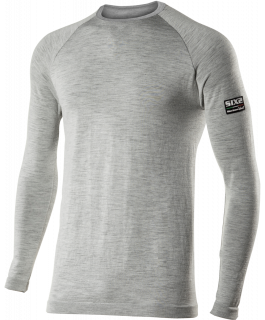 TS2 Long sleeve round neck jersey Carbon Merinos Wool®