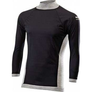 TS4 FF Long sleeve mock turtleneck jersey Merinos Wool