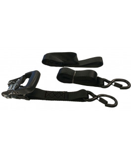 Xtreme duty tie-downs set with additional soft straps and storage bag