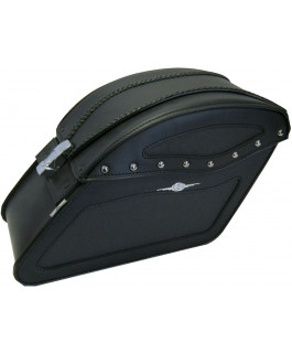 DAKOTA SADDLEBAG WITH LOCK AND NO STUDS