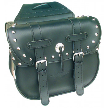 Deluxe chrome studded Dallas saddlebags Parts & Other Accessories