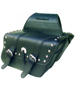 Deluxe chrome studded Houston saddlebags