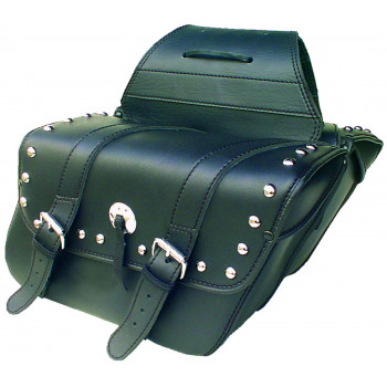 Deluxe chrome studded Houston saddlebags Parts & Other Accessories