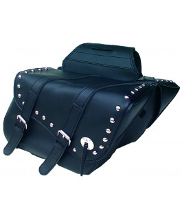 Deluxe chrome studded Indiana saddlebags