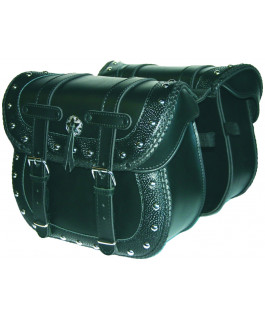 Deluxe embossed Dallas saddlebags