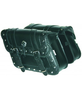 Deluxe embossed Houston saddlebags