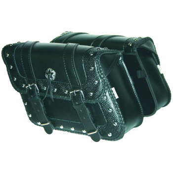 Deluxe embossed Houston saddlebags Parts & Other Accessories