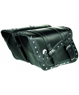 Deluxe embossed Indiana saddlebags