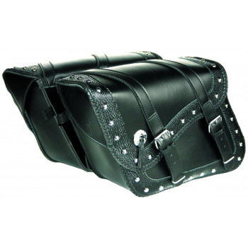 Deluxe embossed Indiana saddlebags Parts & Other Accessories