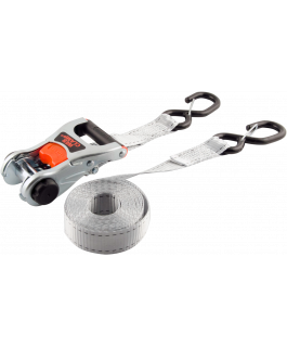 Deluxe tie-downs with web clamp & safety snap hooks