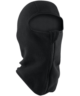 Fleece balaclava with convenient zipper