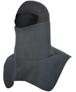 Fleece balaclava with protective dickie