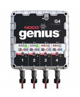 Genius G4 6V/12V 4 x 1.1Amp Multi-battery charger, maintainer and desulfator