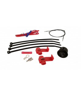 Heated grip connection kit