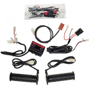 Heated grips with thumb warmer and 4-zone controller for 7/8 Handlebars & Grips