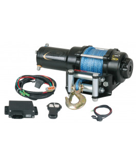 Quadrax® 2600lbs ATV winch with wireless remote & synthetic rope