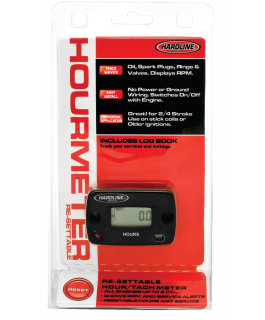Resettable hour, service and tachometer