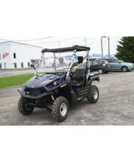 UTV thermoplastic front half-windshield with mirrors