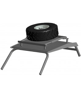 Rooftop spare tire holder
