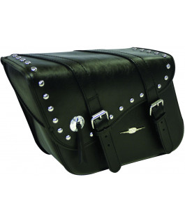 Studded Indiana Leather Tek saddlebags