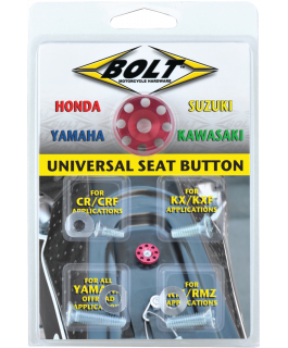 Universel anodized seat button for Japanese motorcycles